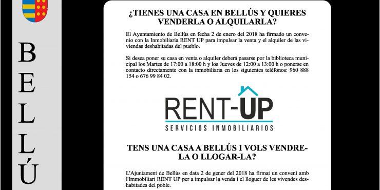 Rent-Up establece los días de consultoría en Bellús